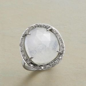 New Sundance Moonstone & Pave Diamond Ring
